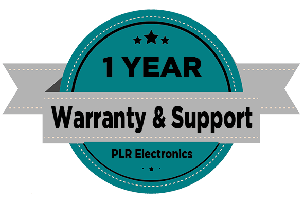 1 Year Warranty And Support by PLR Electronics